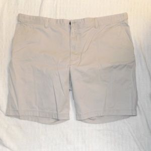 Izod Saltwater Cream Shorts 48 Men